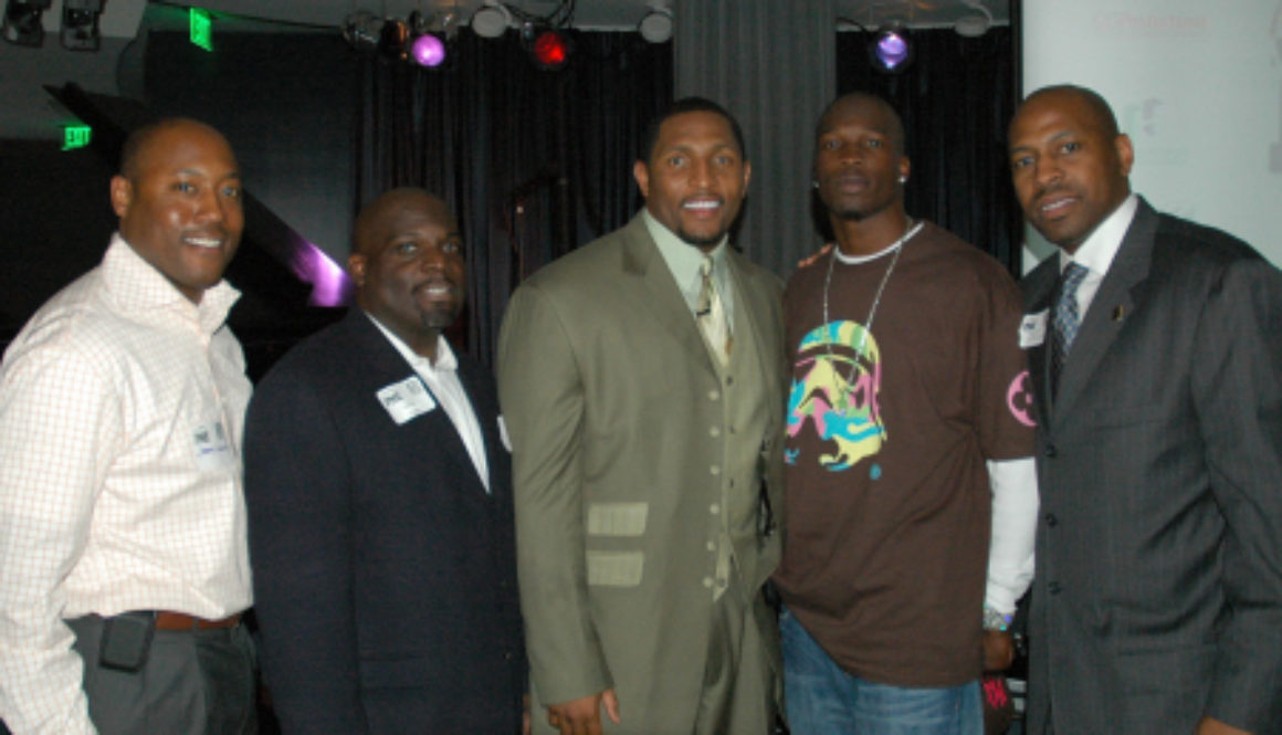 Ray Lewis and Chad Johnson Supporting the Player Networking Event